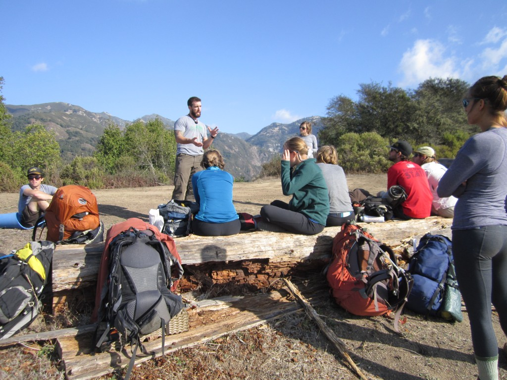 Matt Schollard gives a talk on the trail