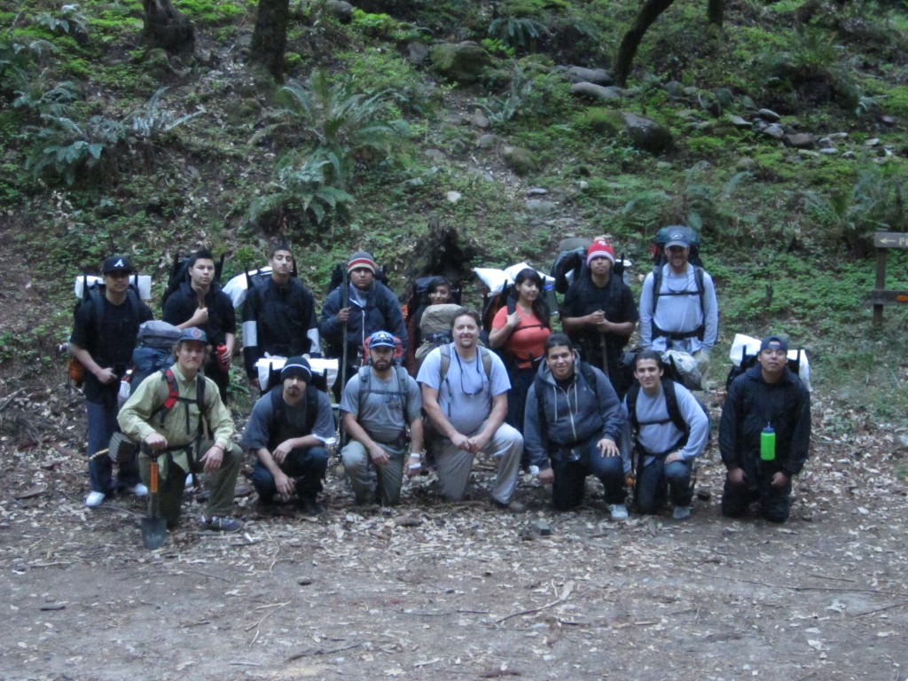 Group photo before hike in