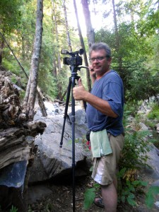 Erik Gandolfi shoots on the Big Sur River