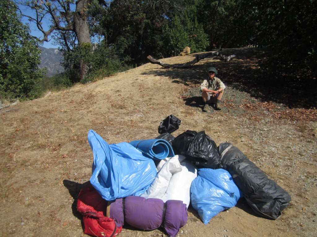pile of trash hike out