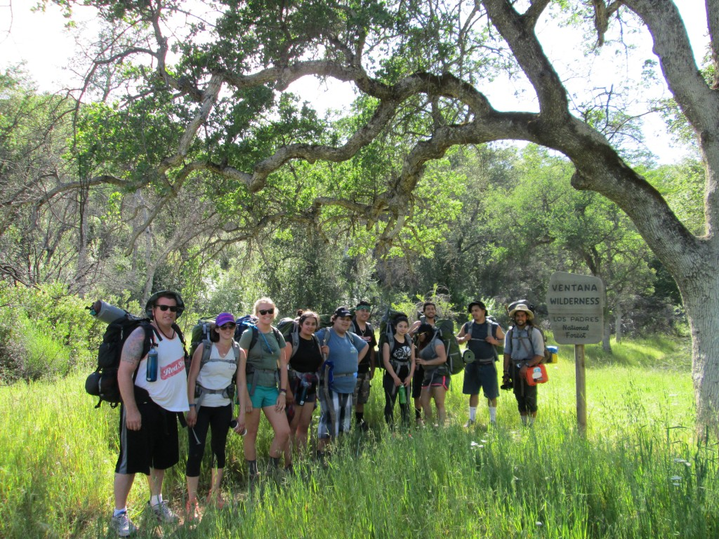 Rancho Cielo Culinary Academy heads into the Wilderness on the Marble Peak trail