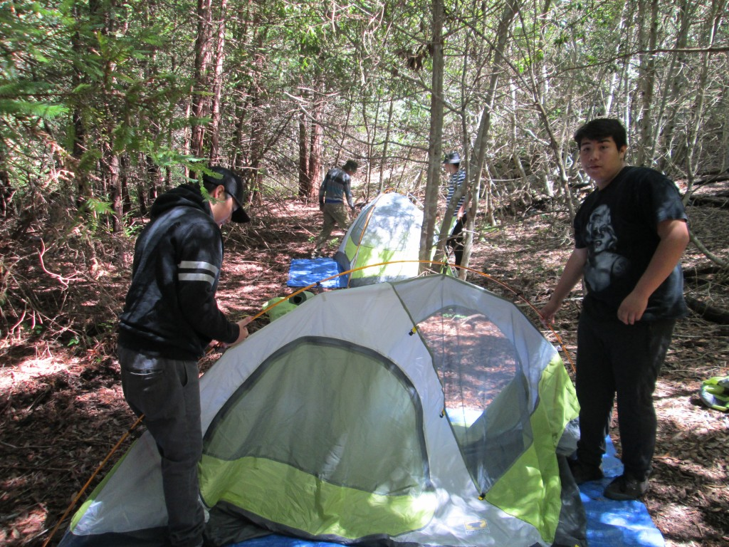 Paso Robles 'Youth in Action' students set up tents